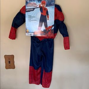 New SpiderMan padded costume with mask toddler 3/4